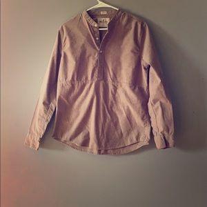 Hollister Brown Stretch long sleeve shirt